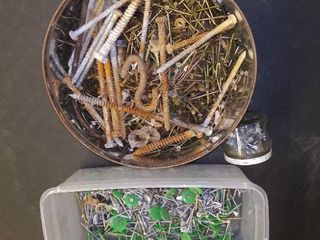 Tool lot   40   Assorted Screws   Nails