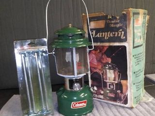 Coleman lantern with Original Box and New Tent Stakes