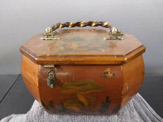 Vintage Wooden Box With Handle