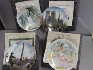 French Collector Plates Set Of 4