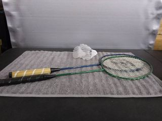 2 Badminton Rackets with Birdies