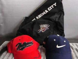 New Nike and Hollywood Ball Caps   OKC Thunder Sports Bag