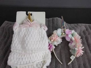 New Unicorn Hat and Diaper Cover   Headband
