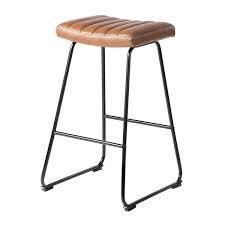 Furniture R Counter   Bar Stool With Two tone Color PU Upholstery  Set of 2  Retail 119 49 Brown