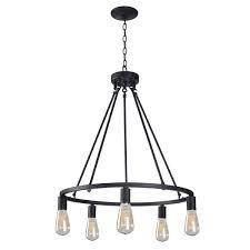 The Gray Barn lake View 5 light Black Chandelier Retail 145 49