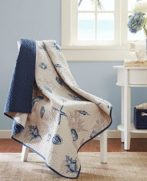 60 x70  Nantucket Oversized Quilted Throw Blanket Blue