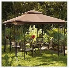 Sunjoy Replacement Canopy set for l GZ105PST 4F 10X10 lansing Gazebo  As Is Item