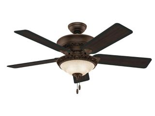 Hunter 52  Italian Countryside Ceiling Fan with lED light Kit and Pull Chain   PA Cocoa  Retail 177 99
