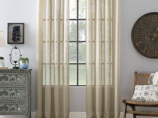PAIR OF  Archaeo Textured linen 52  x 95  Curtain