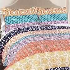 Full  Queen The Curated Nomad la Boheme 3 piece Striped Quilt Set Retail 82 92