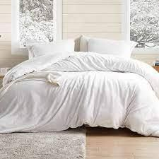KING SIZE Coma Inducer Oversized Duvet Cover   Wait Oh What   Farmhouse White
