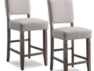 Set of 2 Counter and Bar Stools Gray   leick Home