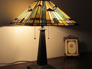 Tiffany Style Mission Design 2 light Table lamp Retail 136 99