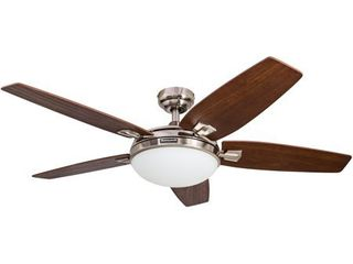 48  Honeywell Carmel Brushed Nickel Ceiling Fan with Integrated light and Remote