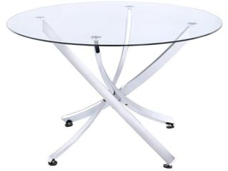 BASE ONlY Walsh Contemporary Chrome Dining Table   29 50  x 46  Retail 341 99