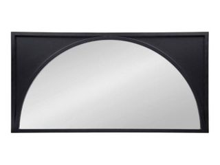 Satin   Black   Black  Kate and laurel Andover Wooden Wall Panel Arch Mirror   21 5x42 Retail 189 99