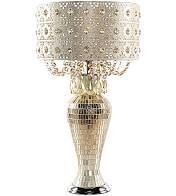 River of Goods Solvang Jeweled Metal Mosaic Base Cascading Crystal Table lamp   14 l x 14 W x 25 H  Retail 184 99