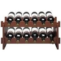 2 Tier Stackable Wine Rack  Holds 12 Bottles  Classic Style Wine Racks
