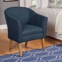 Porch   Den Kingswell Navy Chunky Textured Accent Chair  Retail 149 99