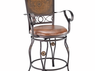 Powell Aberdeen Counter Stool with Arms Retail 128 19