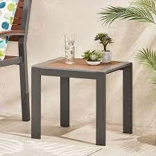Davos Outdoor Aluminum Outdoor Side Table