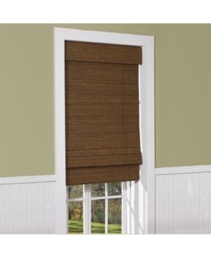 48  Drop Cordless Maple Cape Cod Flatweave Bamboo Roman Shade Retail 88 99