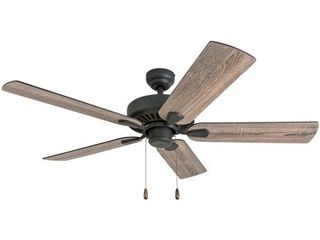 Prominence Home Eagle Creek Farmhouse 52  Aged Bronze Ceiling Fan  Barnwood Tumbleweed Blades  3 Speed Remote  Retail 94 98