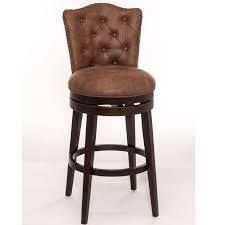 Gracewood Hollow Yeghishe Chocolate Brown Swivel Barstool with Chestnut Faux leather Retail 259 00