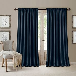 PAIR OF All Seasons Blackout Window Curtain  52 x108    Navy