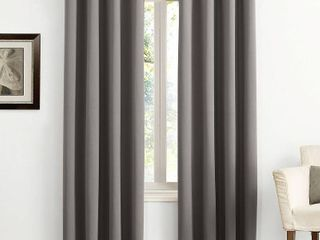 PAIR OF 84 x54  Kenneth Energy Saving Blackout Grommet Top Curtain Panel Charcoal   Sun Zero