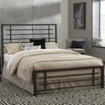 Kotter Home Industrial Modern Metal   Iron Bed  Retail 317 49 FUll