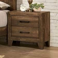 Furniture of America loa Transitional Rustic light Walnut Nightstand  Retail 159 99