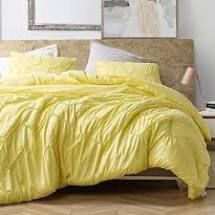 KING Textured Waves Oversized Comforter   Supersoft limelight Yellow Retail 89 99