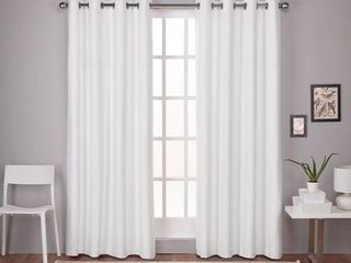 PAIR OF Strick   Bolton leWitt Thermal Textured linen Grommet Top Curtain Panel Pair