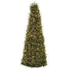 Pre lit 39 inch Boxwood Cone Tree   Green  Retail 144 99