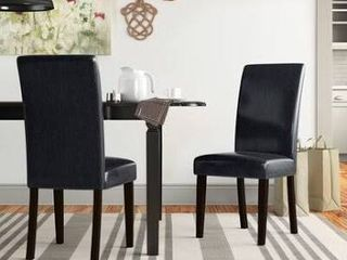 Pretor Upholstered Dining Chair Upholstery Color  Black