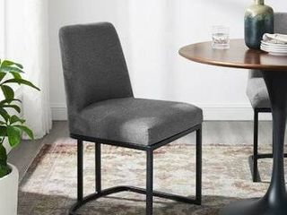 Upholstered Side Chair Upholstery Color  Charcoal