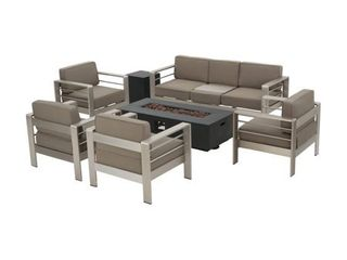 SINGlE CHAIR ONlY  Cape Coral Aluminum 1 piece Patio Set by Christopher Knight Home  Retail 2425 98