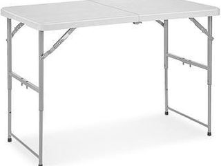 24 inch Square Fold in Half Adjustable Folding Table