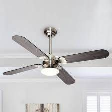 Stain Nickel 42 inch lED Ceiling Fan with Wood Blades
