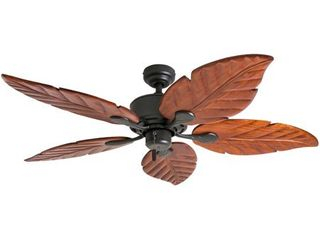Honeywell Willow View Tropical Ceiling Fan  Hand Carved Blades  Bronze   52 inch Retail 121 99