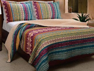 Full  Queen Greenland Home Fashions Southwest Quilt Set