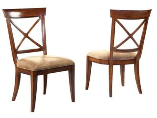 Pair of Hekman European legacy Cross Back Dining Side Chairs