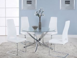 ONlY TABlE lEGS Walsh Contemporary Chrome Dining Table   29 50  x 46  Retail 341 99