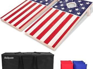 Classic Outdoor Cornhole Game Set American Flagbrand