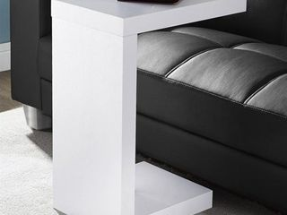 End Table  Monarch Specialties Hollow Accent Table   White Black