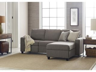 BOX 1 OF 2 Serta Palisades Reclining 89  Sectional with Right Storage Chaise  Retail 1007 99