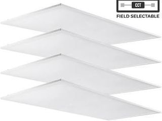 luxrite 1x4 FT lED light Panel  20 25 30W  Color Select 3500K   4000K   5000K  Dimmable  2500 3125 3750 lumens  4 Pack  Retail 277 49