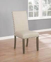 Ismay linen Upholstered Dining Chair in Beige