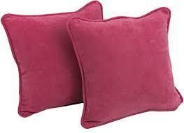 Solid Microsuede Square Throw Pillow Inserts  Set of 2